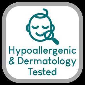 HYPOALLERGENIC DERMOTOLOGY TESTED